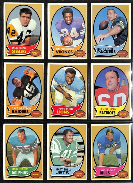 Lot Detail 1970 Topps Football Card Complete Set 263