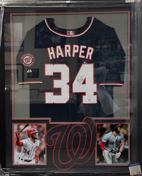 Lot Detail - Bryce Harper Signed & Framed Nationals Jersey - PSA/DNA