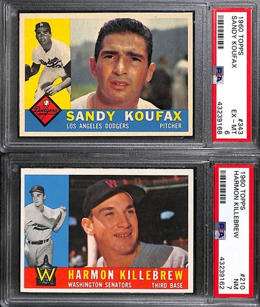 Lot Detail High Grade 1960 Topps Baseball Card Near Complete Set