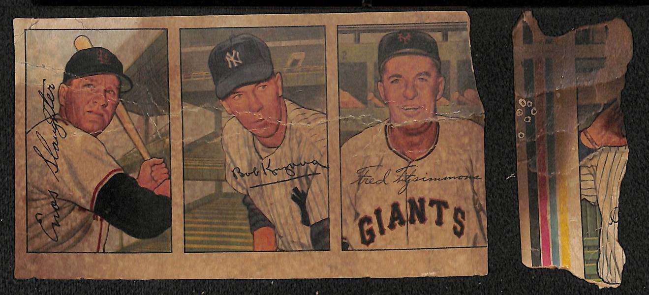 Lot Detail Very Rare 1952 Bowman Baseball Card Uncut Sheet