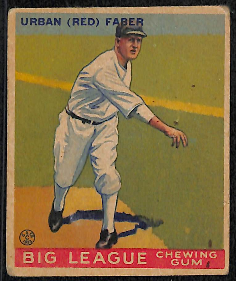 Lot Detail Lot Of 5 Vintage Baseball Cards W 1933 Goudey