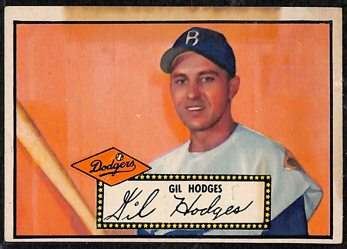 Lot Detail Lot Of 12 1952 Topps Baseball Cards W Gil Hodges