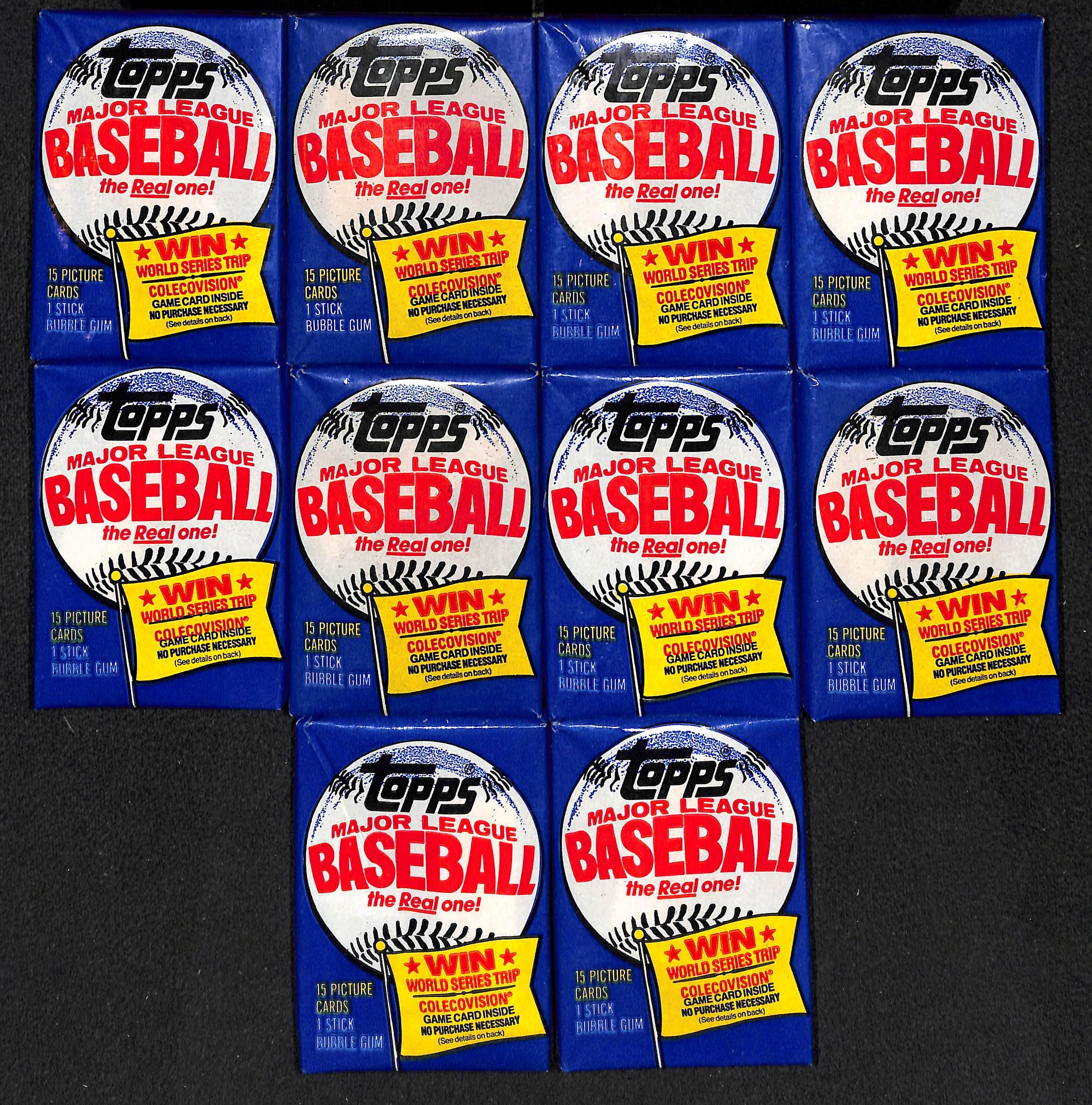 Lot Detail Lot Of 10 1983 Topps Baseball Unopened Packs