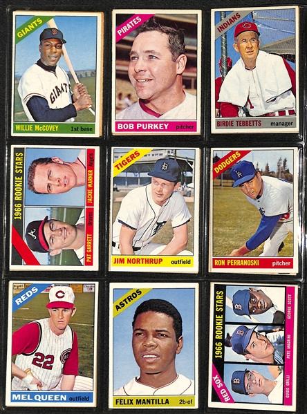 Lot Detail 1966 Topps Baseball Near Complete Set Missing