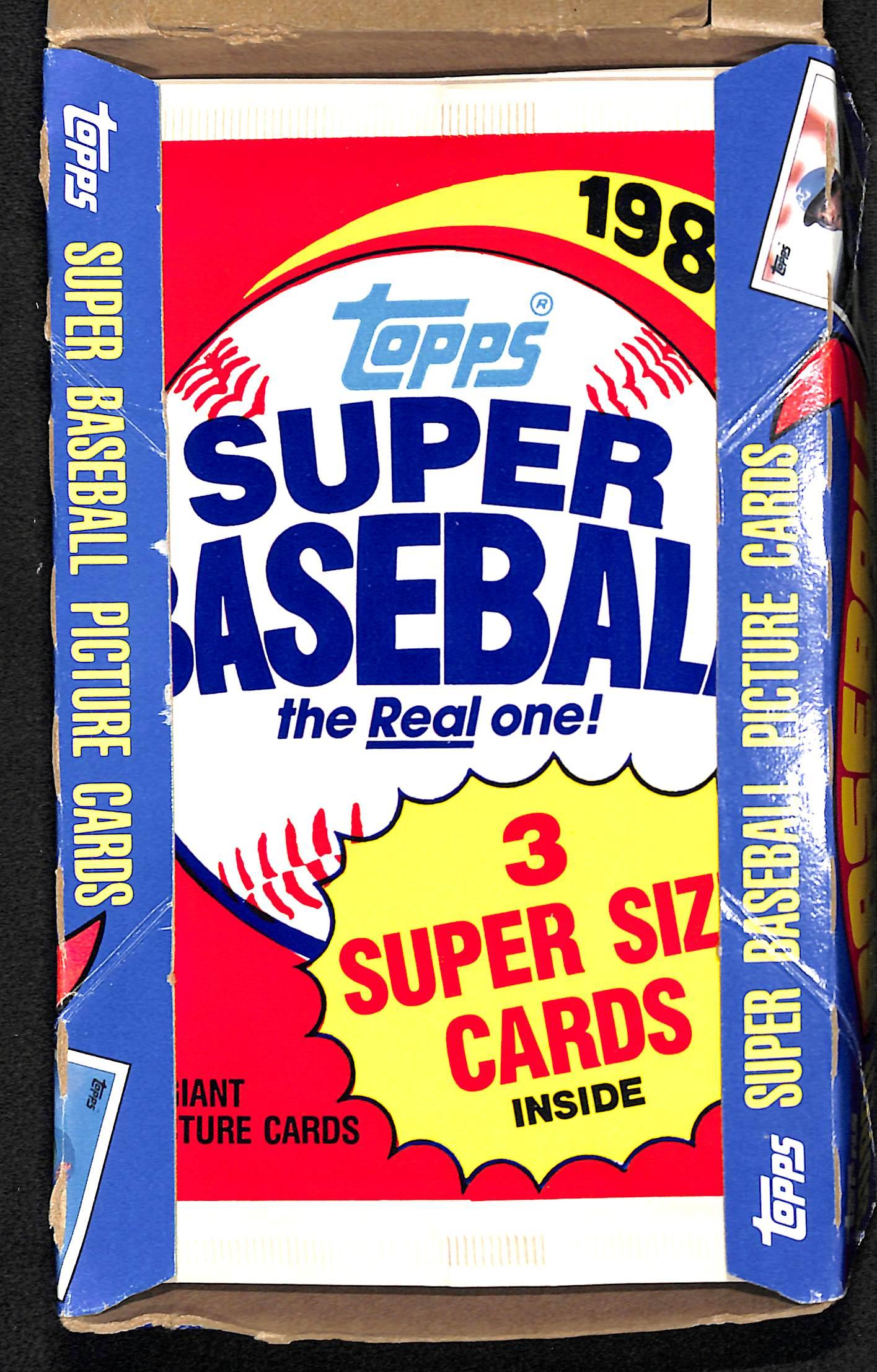 Lot Detail 1985 Topps Super Unopened Baseball Card Box 24