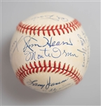 1951 New York Giants Team Signed Baseball w/ 13 Autographs (Inc. Mays, Durocher, Irvin, Thomson) - NL Champions - JSA Auction Letter
