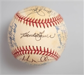 1966 Baltimore Orioles Team Signed World Champion Baseball (26 Signatures inc. B. Robinson, F. Robinson, Palmer, Powell, Blair, Bauer, and more) - JSA Auction Letter