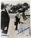 Ted Williams & Bill Terry Signed 8x10 Photo - PSA/DNA