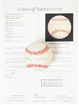 Mickey Mantle Signed Official American League Baseball (Bobby Brown President) w/ JSA LOA