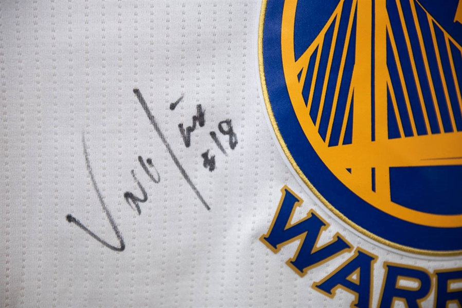 2015-2016 Steph Curry Adidas Swingman Team Signed Golden State Warriors Jersey (Inc. Klay Thompson and 7 Others) - JSA LOA
