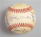 HOF/Star Signed Baseball with Mickey Mantle and 14 Others - JSA Auction Letter