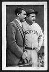 1932 Bulgaria Sport Babe Ruth Card #256 (With Max Schmeling)
