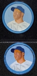 Lot of (2) 1962 Mickey Mantle (#41) Salada Coins