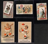 Lot of (5) Late 1800s or Early 1900s Baseball Related Cards and Marketing Adv. Cards