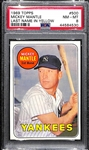 1969 Topps Mickey Mantle #500 (Last Name in Yellow) Graded PSA 8