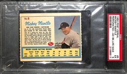 1962 Post Cereal Mickey Mantle #5 (Post Ad Back) Graded PSA 5 (EX)