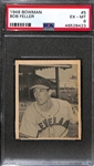 1948 Bowman Bob Feller #5 Rookie Graded PSA 6