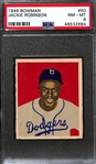 High-Grade 1949 Bowman Jackie Robinson Rookie Card (#50) Graded PSA 8
