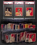 Lot of (47) 1949 Bowman Cards (Many High-Grade & Pack-Fresh Cards) Inc. 3 PSA-Graded Cards)
