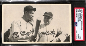 1936 Goudey Premiums Joe DiMaggio Joe McCarthy Graded PSA 1 MK