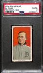 1909-11 T206 Ty Cobb Red Portrait Tobacco Card (Polar Bear Back) Graded PSA 2