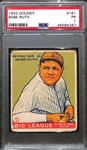 1933 Goudey Babe Ruth Card (#181) Graded PSA 1