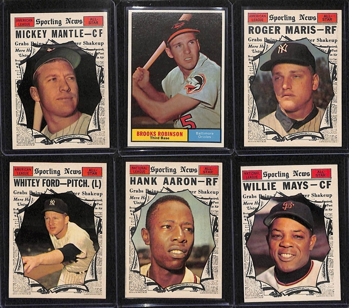 High-Quality 1961 Topps Baseball Card Set (Missing 12 Cards Above) - Many Pack-Fresh Cards Inc. 30 PSA Graded Cards