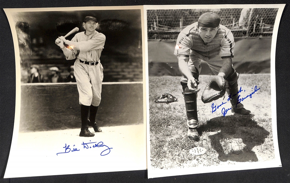 Lot of (5) Old Timer Signed Vintage 8x10 Photos w. Bill Dickey - JSA Auction Letter