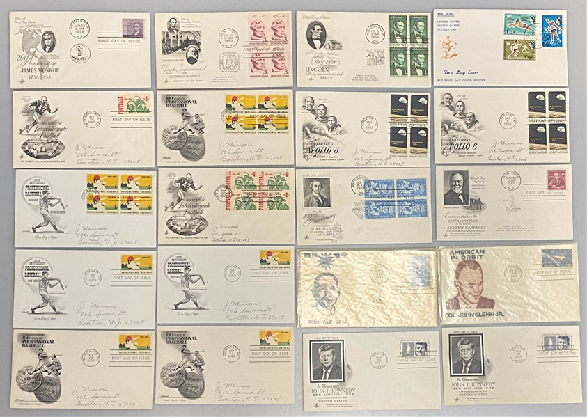 Lot of over (430) 1960s FDCs w. Babe Ruth, JFK, Disney, Space, Presidents, Sports, +