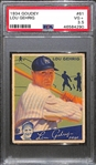 1934 Goudey Lou Gehrig Card (#61) Graded PSA 3.5