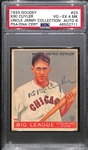 1933 Goudey Kiki Cuyler (HOF) #23 PSA 4 MK (Autograph Grade 8).  Highest Grade (Pop 1) of 7 PSA/DNA Examples (Others Authentic or PSA 1) - d. 1950