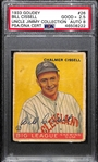 "1933 Goudey Chalmer ""Bill"" Cissell #26 PSA 2.5 (Autograph Grade 8) - Highest Grade - Pop 1 (Only 2 PSA/DNA Exist - The Other is ""Authentic"") - d. 1949"