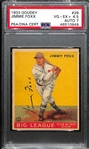 1933 Goudey Jimmie Foxx #29 PSA 4.5 (Autograph Grade 7) - Only 4 PSA/DNA Exist - Only 1 Graded Higher (d. 1967)