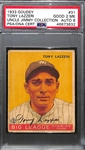 "1933 Goudey Tony Lazzeri #31 PSA 2 MK (Autograph Grade 8) - Part of ""Murderers Row"" - Only 1 Graded Higher and 7 Total PSA/DNA Exist (d. 1946)"