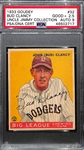 "1933 Goudey Bud Clancy #32 PSA 2.5 (Autograph Grade 9) - Highest Grade (Pop 1) - Only 2 Exist (Other One is ""Authentic"")"