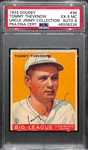1933 Goudey Tommy Thevenow #36 PSA 5 MC (Autograph Grade 8) - Pop 1 (Highest Grade by 3 Full Grades - Only 5 PSA/DNA Exist) - d. 1957