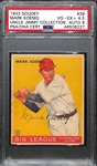 1933 Goudey Mark Koenig #39 PSA 4.5 (Autograph Grade 8) - Pop 1 (Highest Grade by 2 Full Grades!) - d. 1993