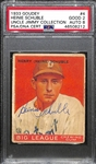 1933 Goudey Heinie Schuble #4 PSA 2 (Autograph Grade 8) - Only 7 PSA/DNA Graded Exist w. Only 1 Graded Higher! (d.1990)