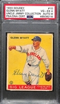 1933 Goudey Glenn Myatt #10 PSA 4 (Autograph Grade 8).  Pop 1 - Highest Grade Example and Only 4 PSA/DNA Exist! (d. 1969)