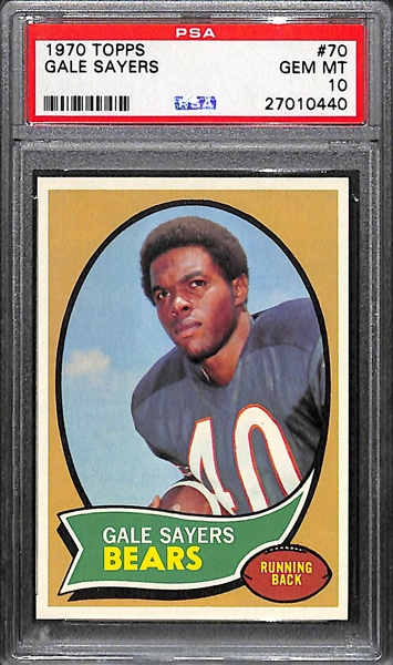 GEM MINT 1970 Topps Gale Sayers  #70 Graded PSA 10! Pop 4!