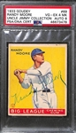 1933 Goudey Randy Moore #69 PSA 4 MK (Autograph Grade 8) - Pop 1 - Highest Grade of Only 7 PSA Examples - (d. 1992)
