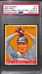 1933 Goudy Eppa Rixey #74 PSA 5 (Autograph Grade 8) - Pop 1 - Highest Grade of Only 3 PSA Examples - (d. 1963)