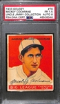 1933 Goudey Mickey Cochrane #76 PSA 1.5 (Autograph Grade 8) - Only 9 PSA/DNA Exist w. Only 2 Graded Higher! (d. 1962)