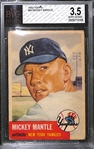 1953 Topps Mickey Mantle #82 Graded BVG 3.5