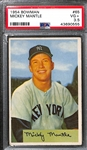 1954 Bowman Mickey Mantle #65 Graded PSA 3.5