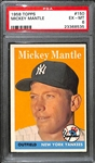 1958 Topps Mickey Mantle #150 Graded PSA 6