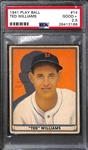 1941 Play Ball Ted Williams #14 Graded PSA 2.5