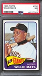 1965 Topps Willie Mays #250 Graded PSA 7