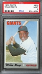 1970 Topps Willie Mays #600 Graded PSA 9
