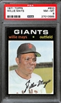 1971 Topps Willie Mays #600 Graded PSA 8